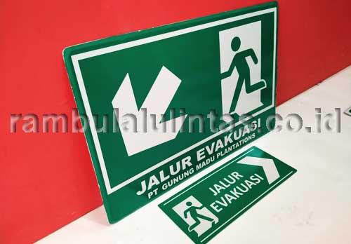 Rambu Jalur Evakuasi Dalam Gedung